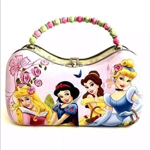 Disney Princess Floral Tin Bling Metal Purse Box